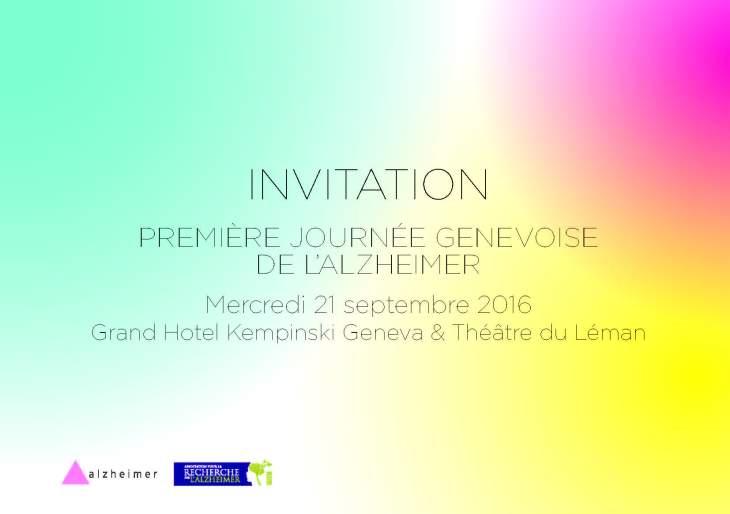 Invitation Première Journée Genevoise de l'Alzheimer