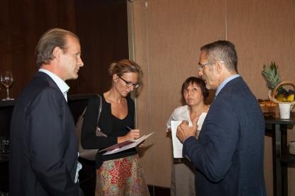Tim Brockmann, Sophie Davaris - Tribune de Genève, Nadine Pachta - vice-présidente Association Suisse pour la Recherche sur l'Alzheimer, Giovanni Frisoni