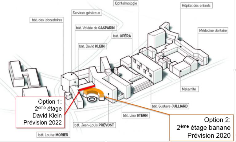 Bâtiment principal des HUG site Cluse-Roseraie