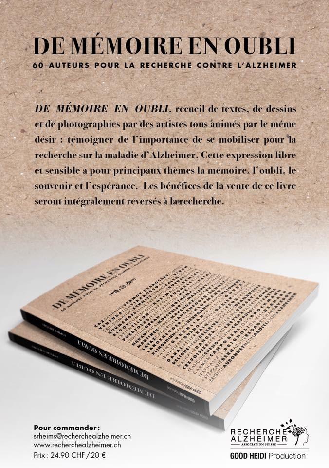 """Couverture livre """"De mémoire en oubli"""""""